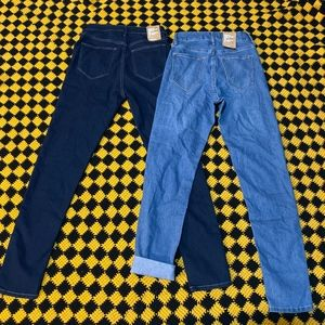 Set of 2 High Waist Skinny Ankle Jeans